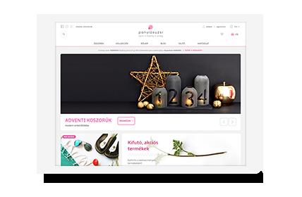Playful and modern Magento webshop for Panyizsuzsi jewelery brand