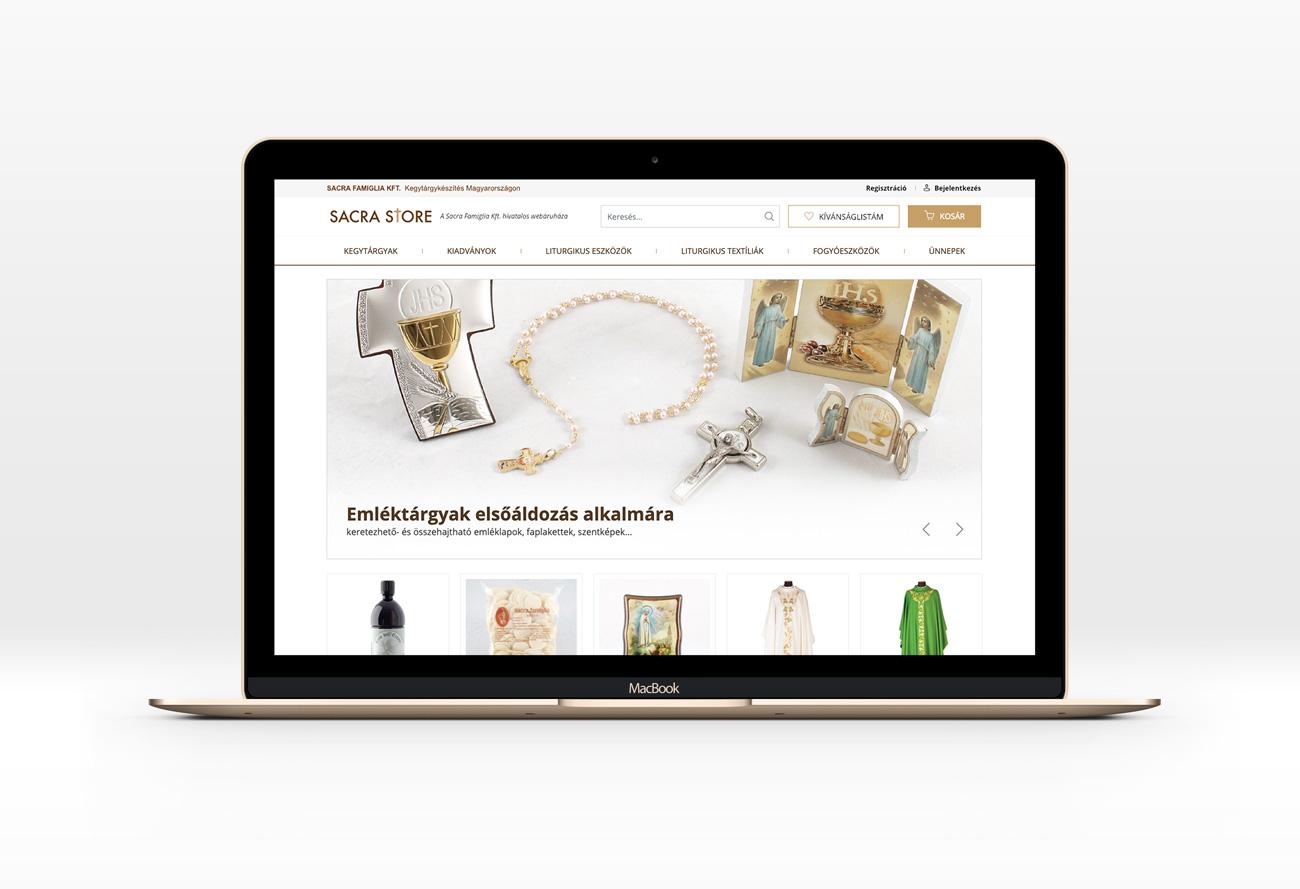 Sacrastore webshop